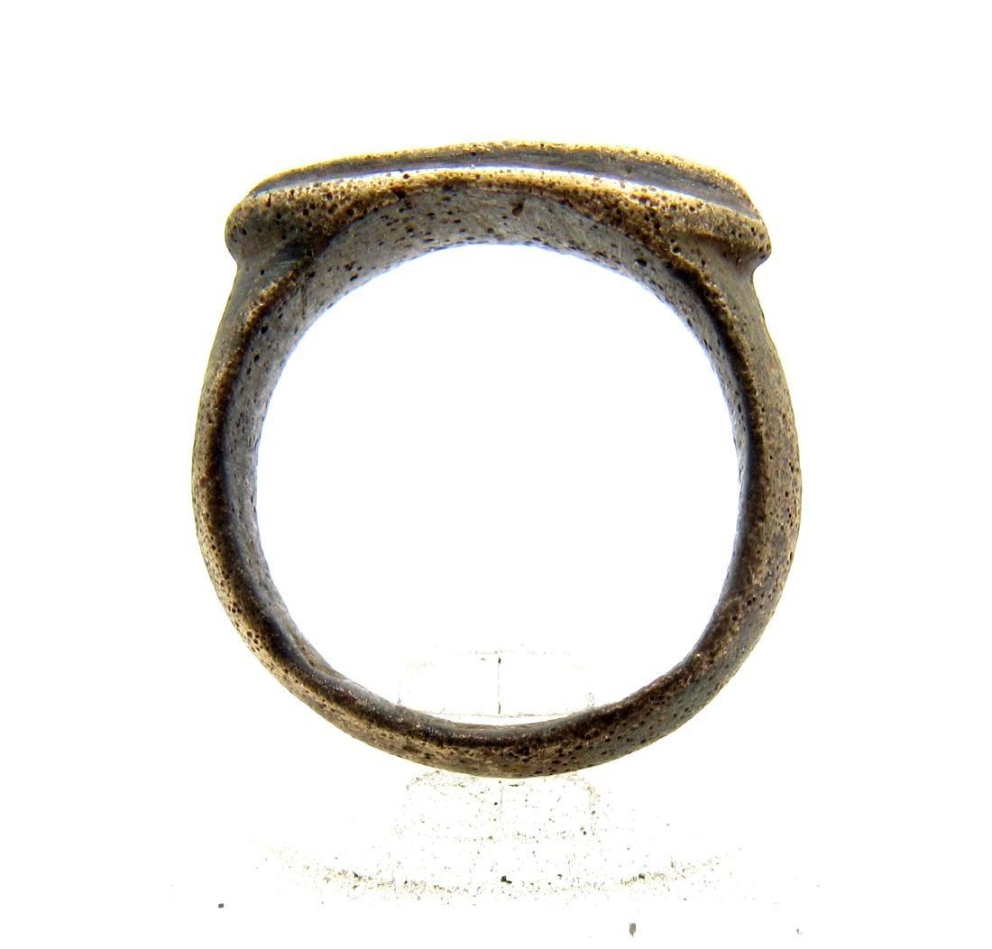 Medieval Viking Era Bronze Fishermans Net Ring - 3