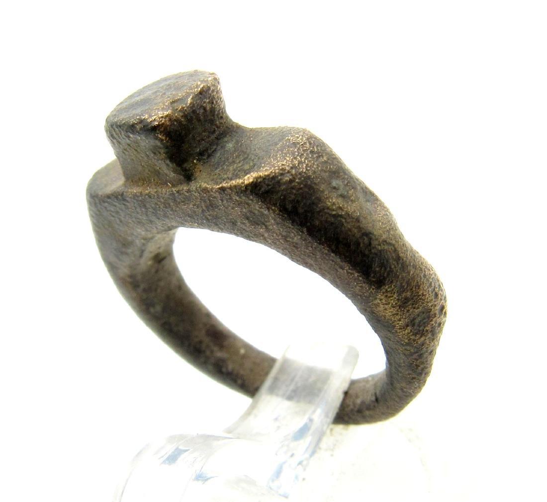 Medieval Viking Era Bronze Spike Ring - 2
