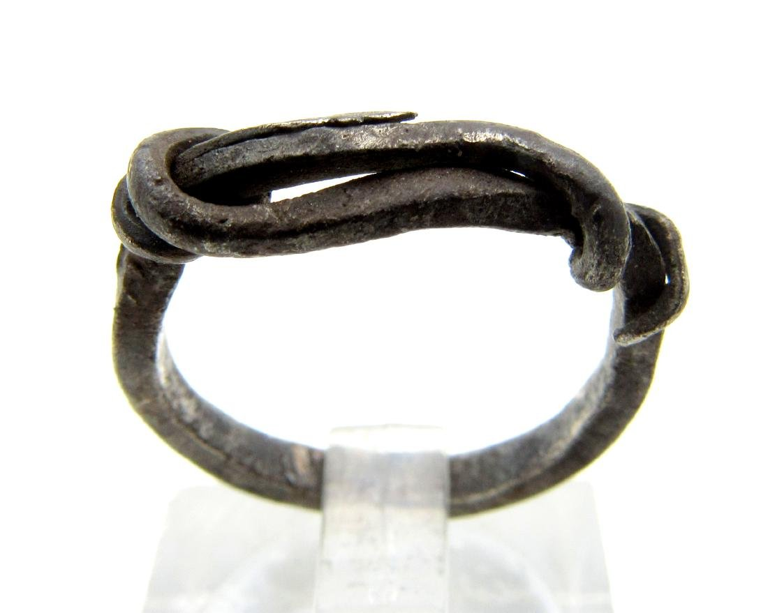 Medieval Viking Era Silver Twisted Knot Ring