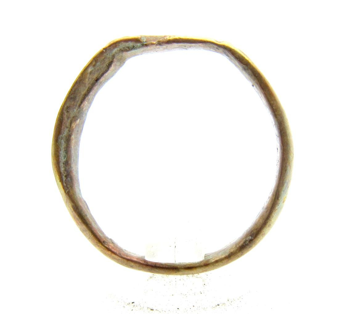 Medieval Viking Era Bronze Decorated Ring - 3