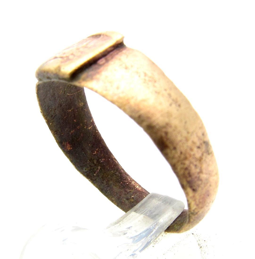 Medieval Viking Era Bronze Decorated Ring - 2