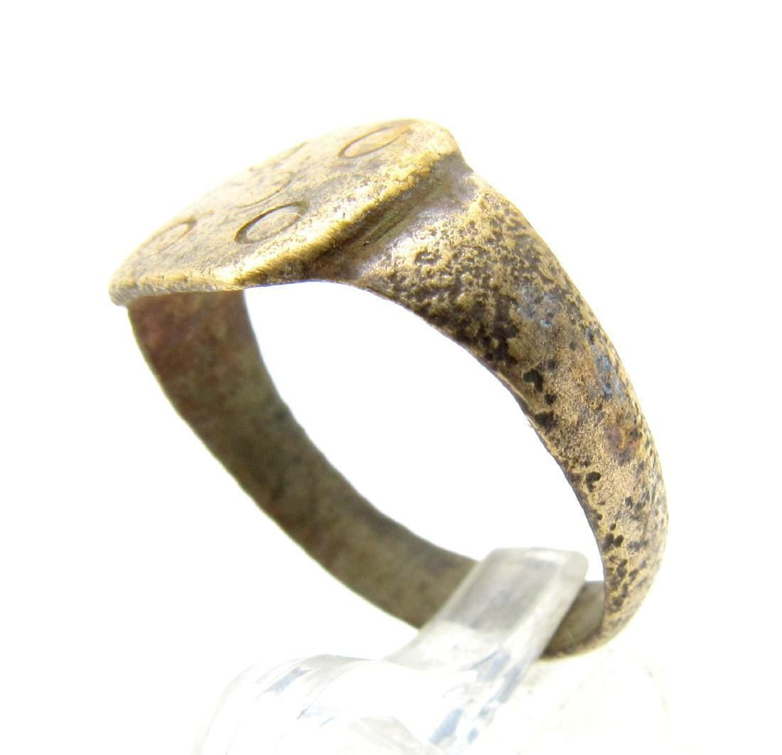 """Medieval Viking Era Bronze """"Five Wounds of Christ"""" Ring - 2"""