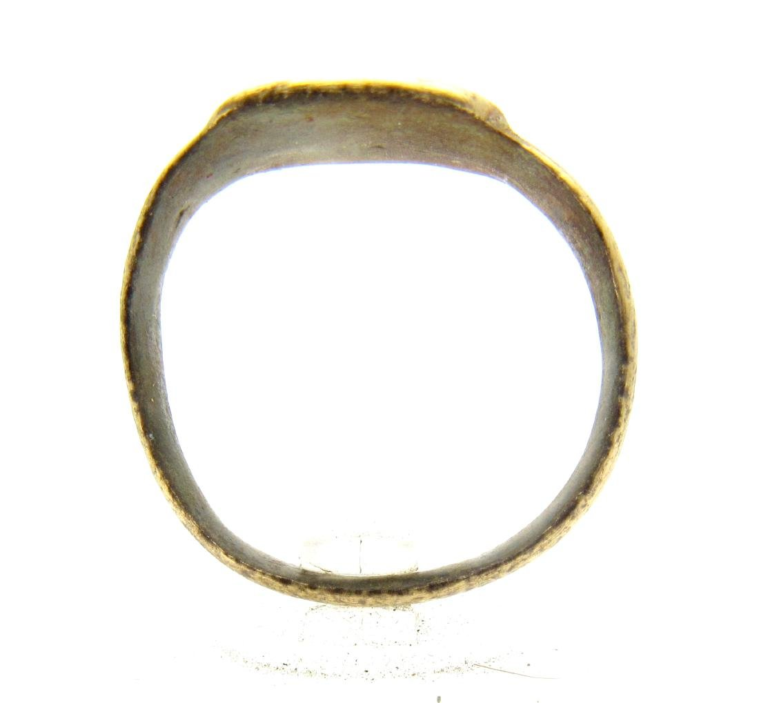 """Medieval Viking Era Bronze """"Five Wounds of Christ"""" Ring - 3"""