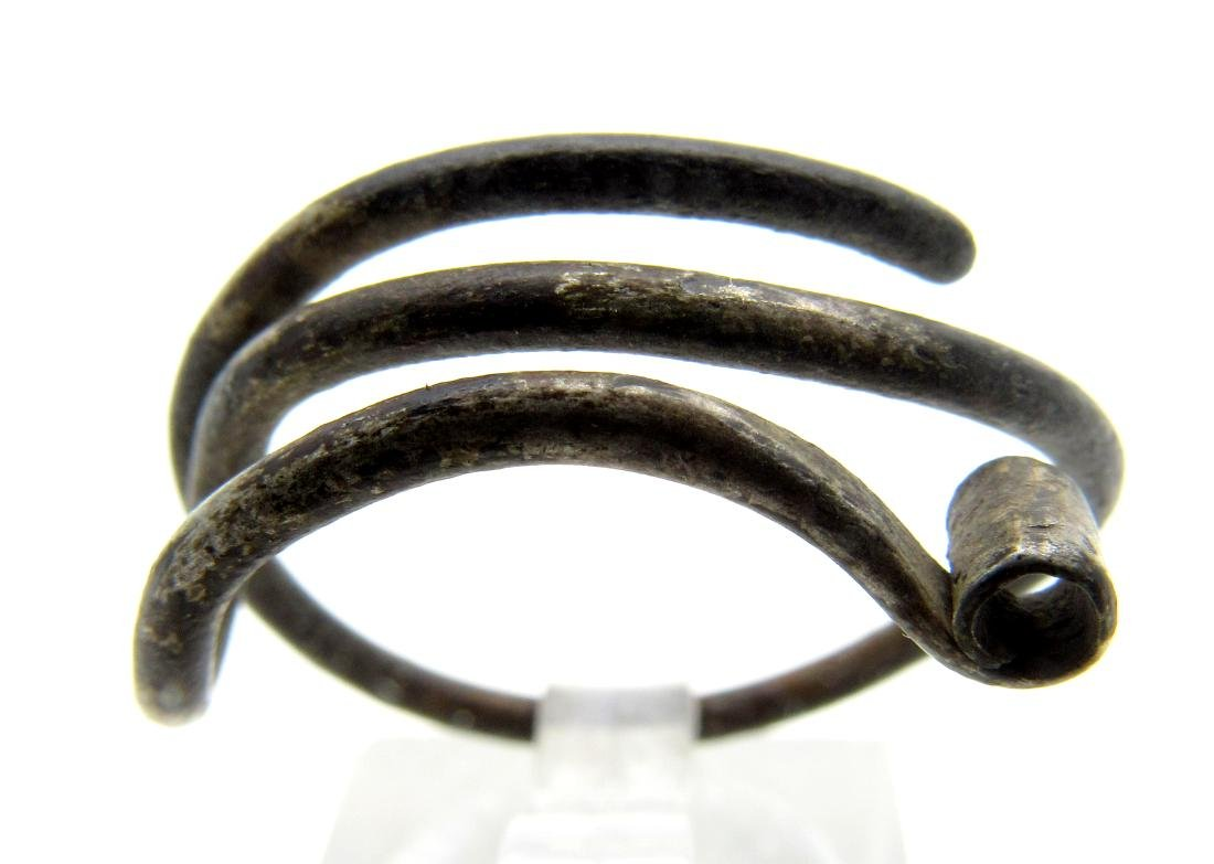 Medieval Viking Era Silver Coiled Ring