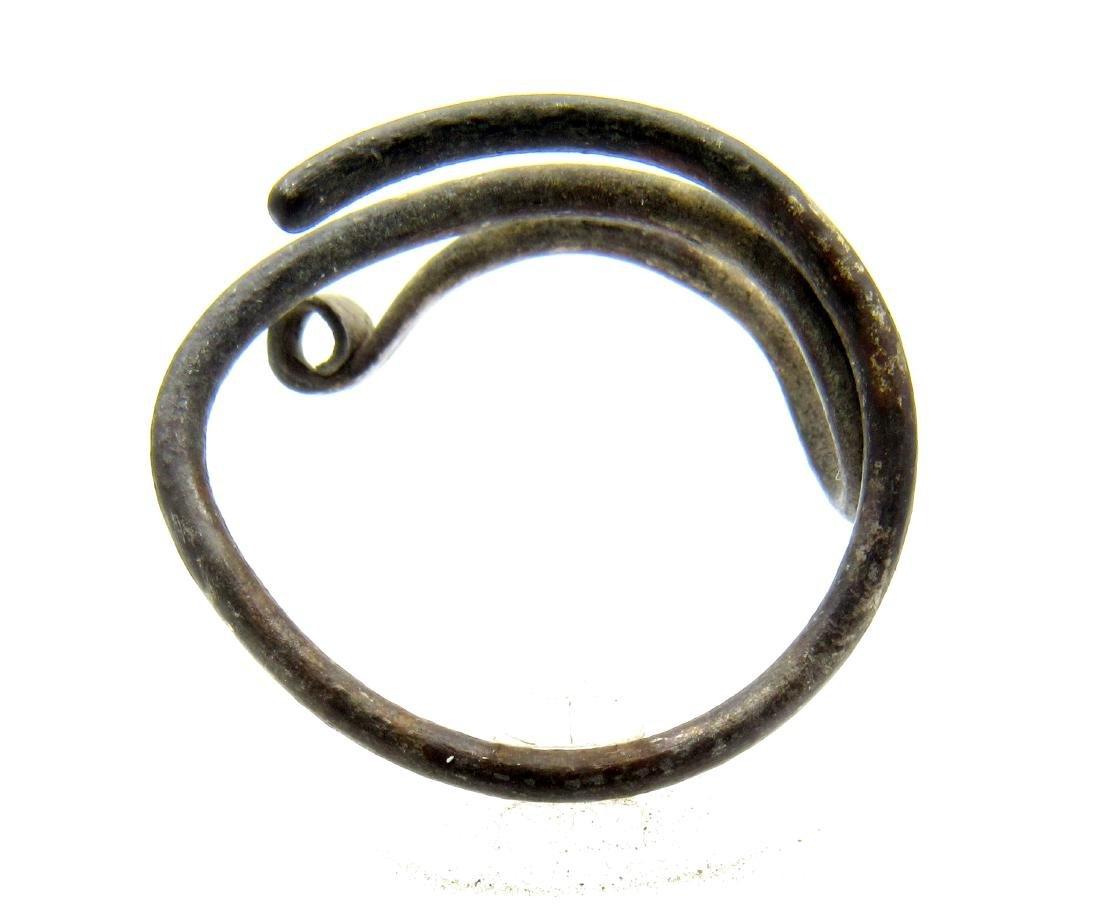 Medieval Viking Era Silver Coiled Ring - 3