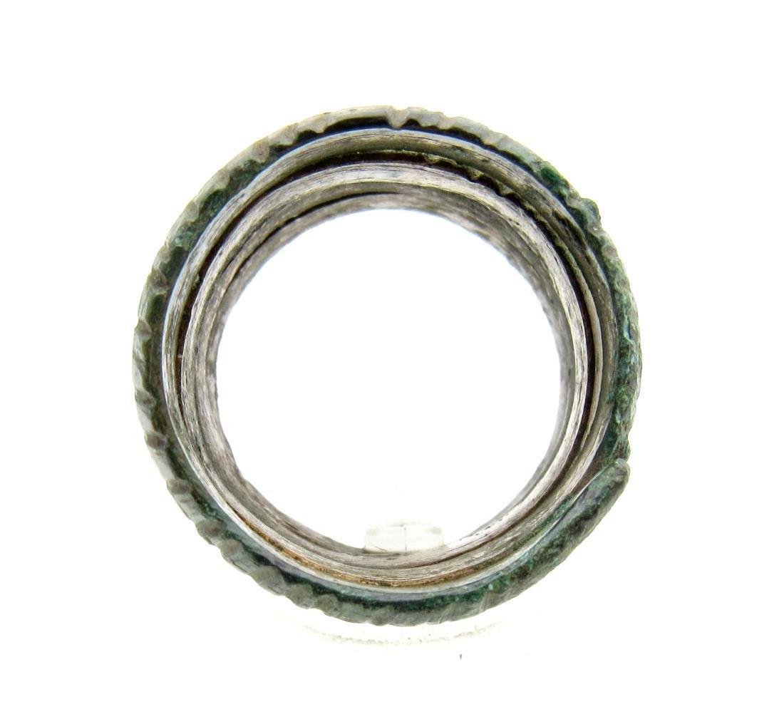 Medieval Viking Era Bronze Coiled Snake Ring - 3