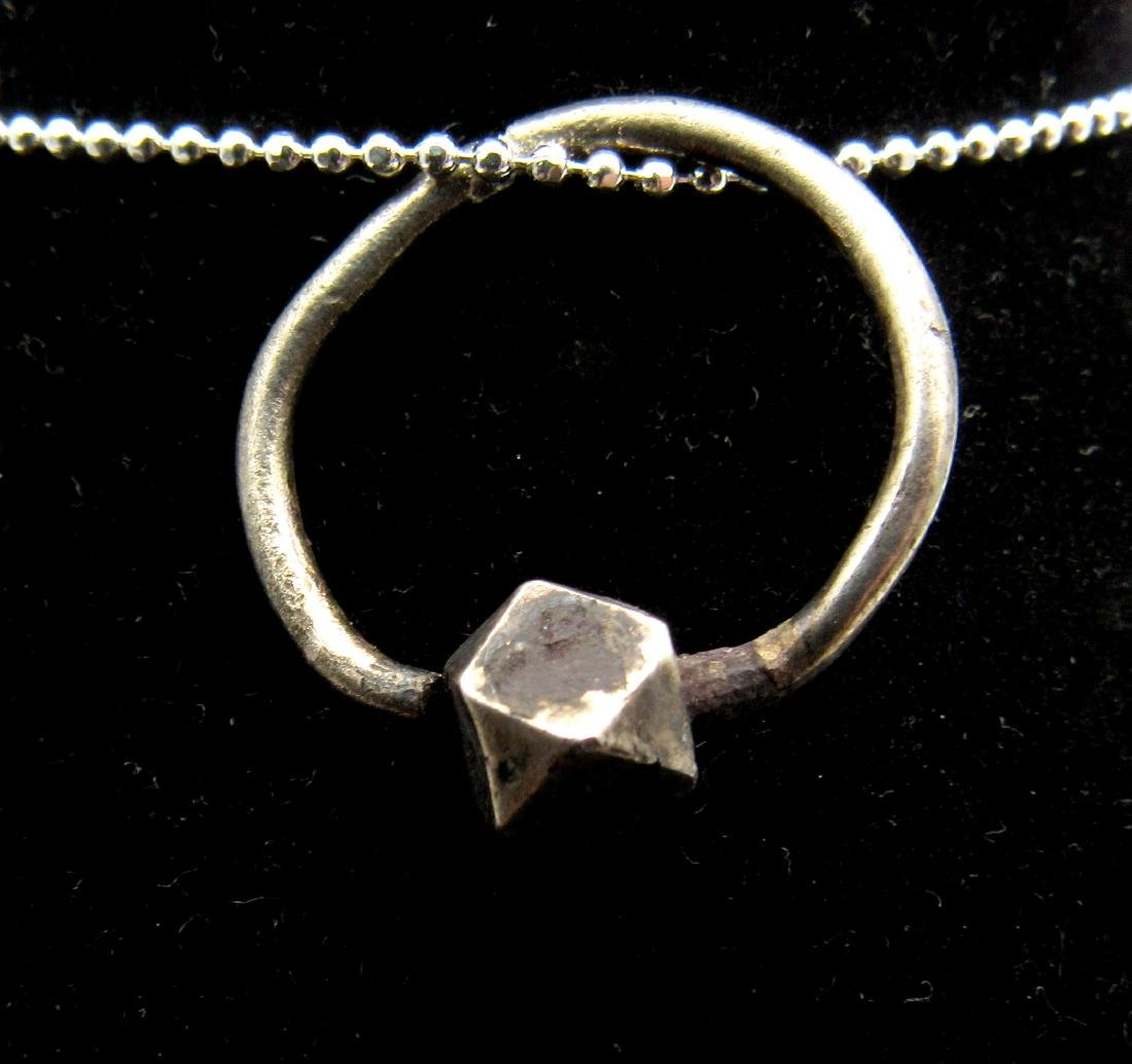 Medieval Viking Era Silver Orb Ring Pendant