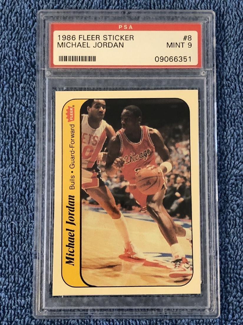 1986 Fleer Sticker Michael Jordan 1986 Fleer Sticker #8