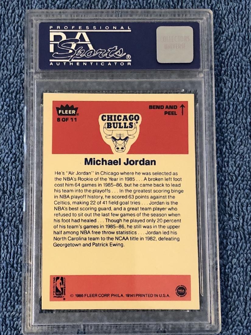 1986 Fleer Sticker Michael Jordan 1986 Fleer Sticker #8 - 2