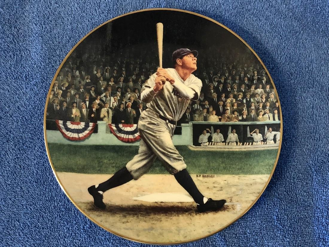 """Babe Ruth """"The Called Shot"""" Plate 3646 Limited Edition"""