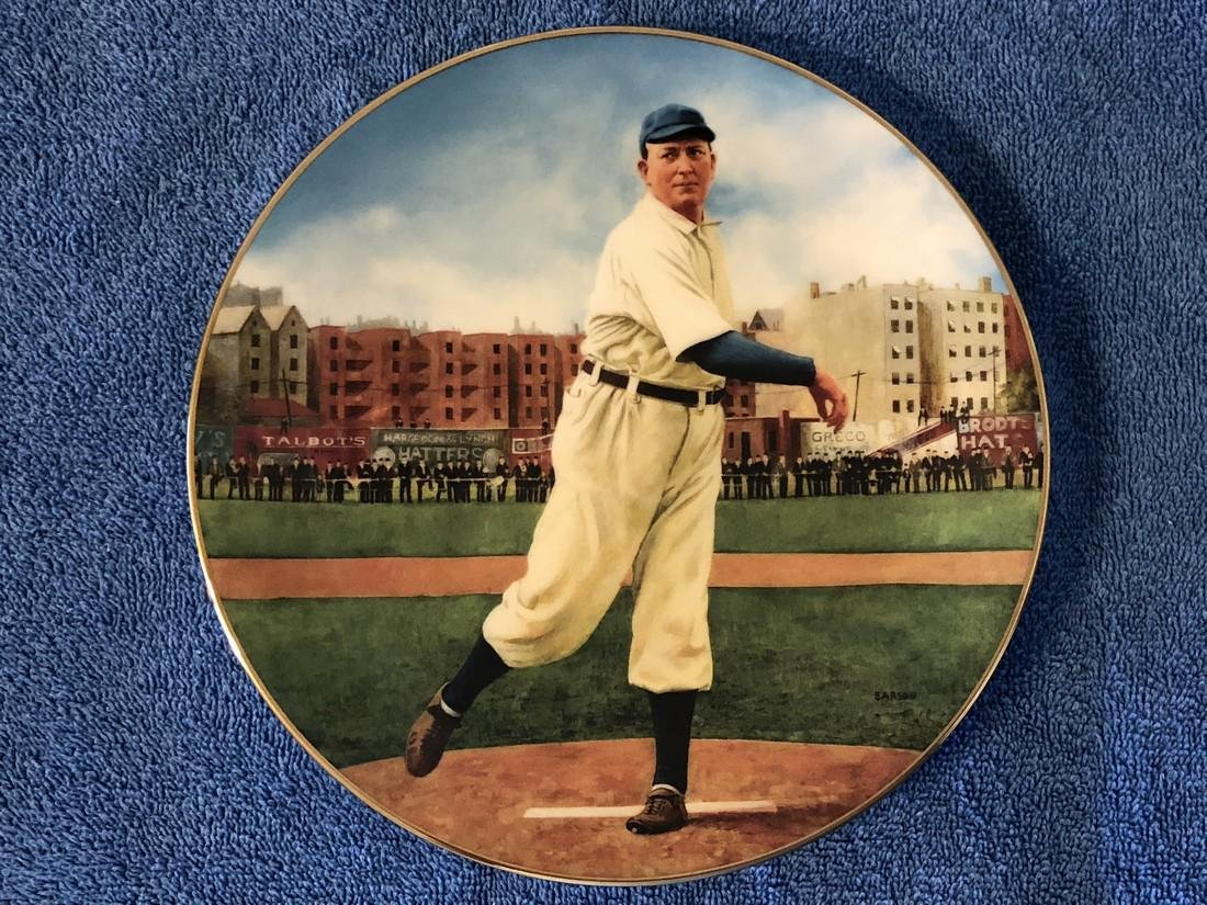 """Cy Young """"The Perfect Game"""" Plate 6928D Limited Edition"""