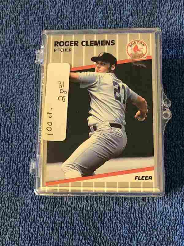 100 - Roger Clemens 1989 Fleer #85