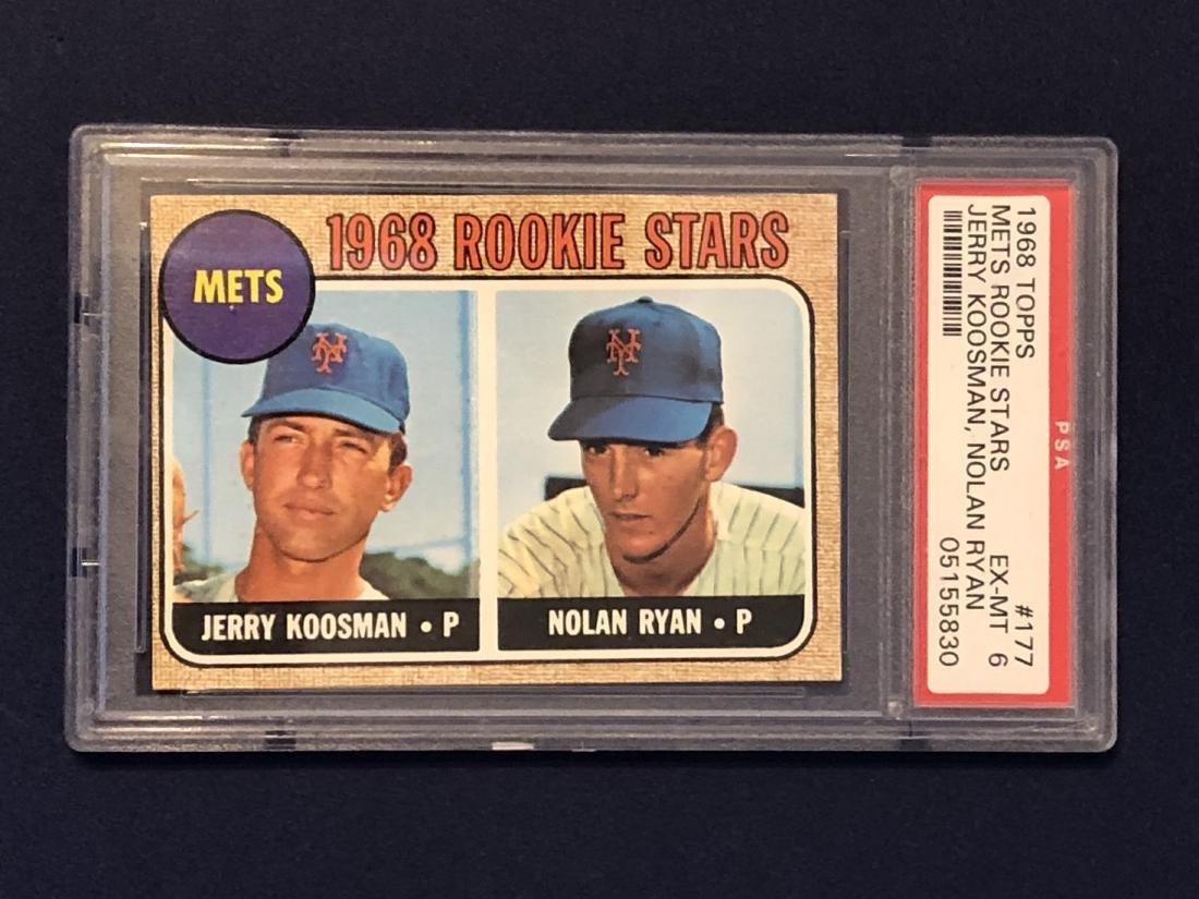 Nolan Ryan Rookie PSA6 1968 Topps #177