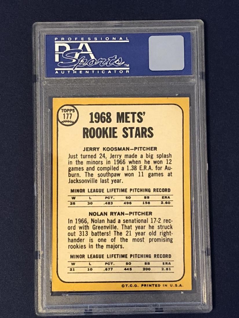 Nolan Ryan Rookie PSA6 1968 Topps #177 - 2