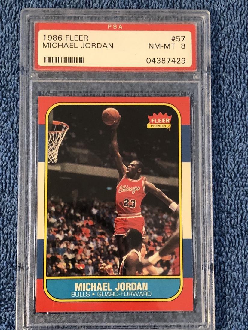 1986 Fleer Michael Jordan PSA 8 1986 Fleer #57 PSA 8