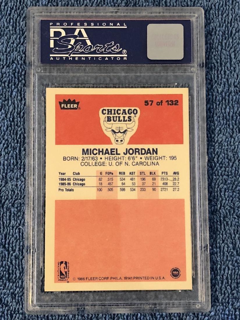 1986 Fleer Michael Jordan PSA 8 1986 Fleer #57 PSA 8 - 2