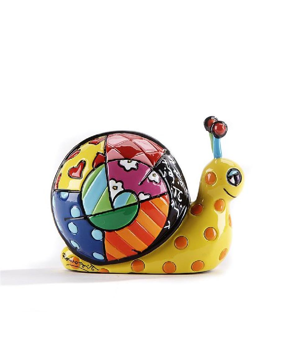 Romero Britto: Little Snail Pop Art statue