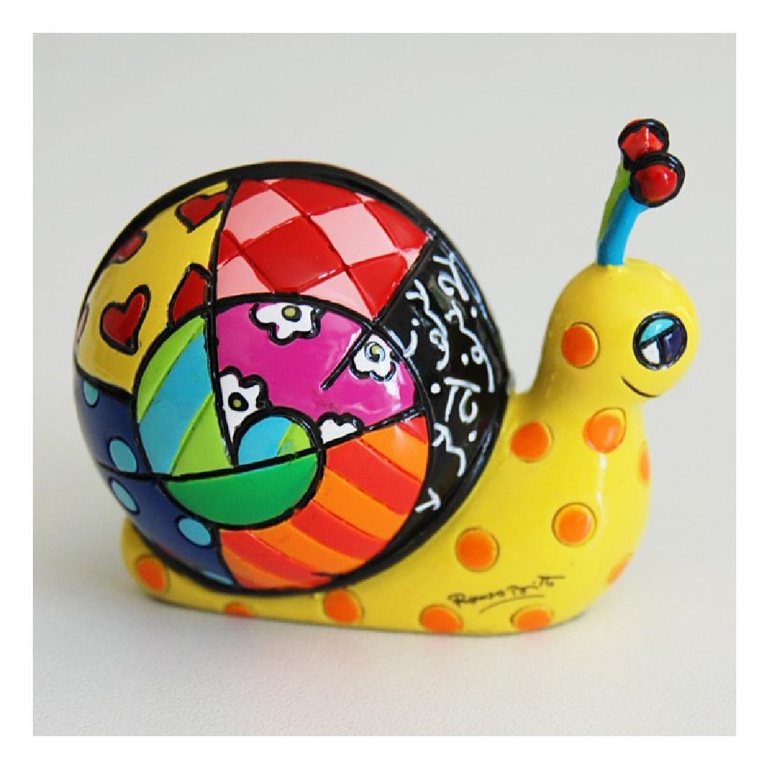 Romero Britto: Little Snail Pop Art statue - 2