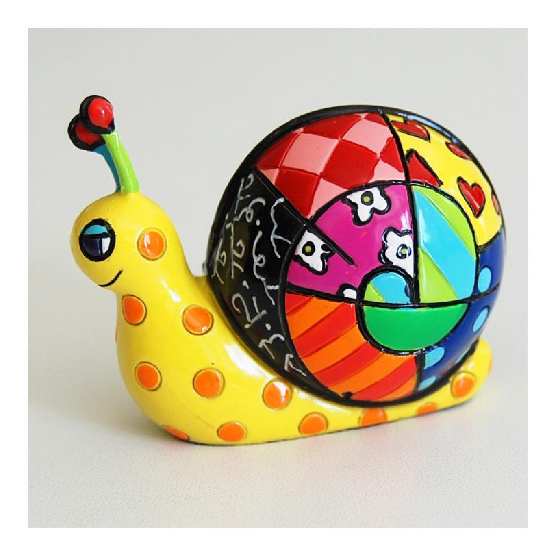 Romero Britto: Little Snail Pop Art statue - 3
