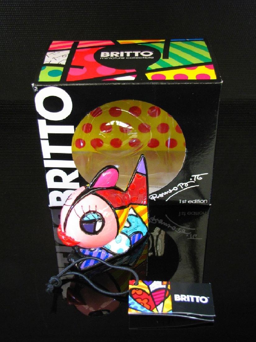 Romero Britto: Little Fish Pop Art statue - 3
