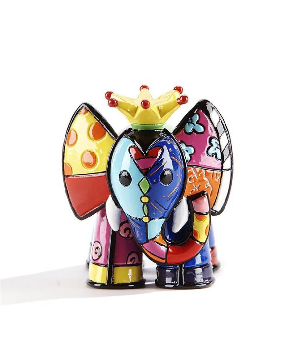 Romero Britto: Little Elephant King statue