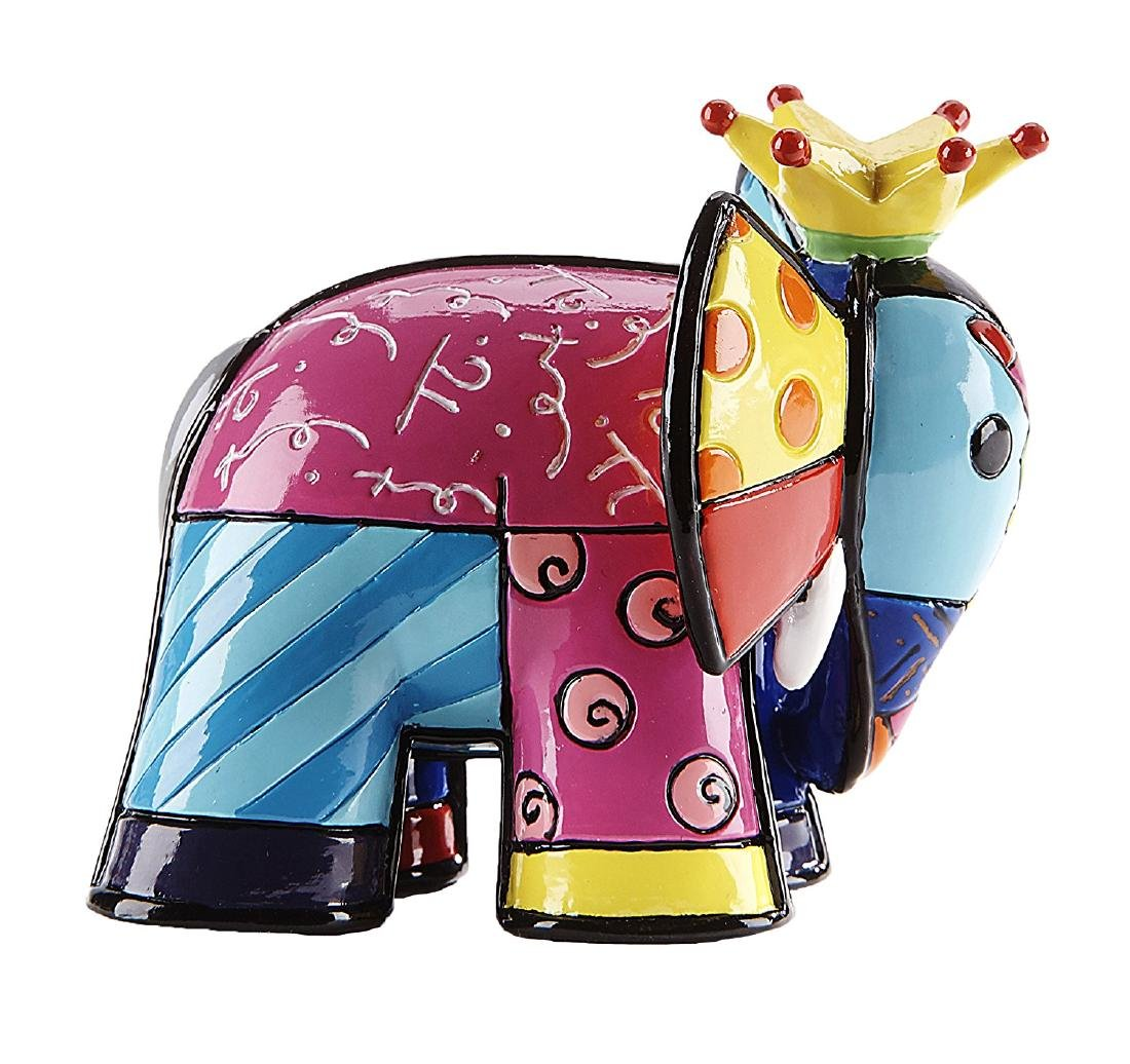 Romero Britto: Little Elephant King statue - 2