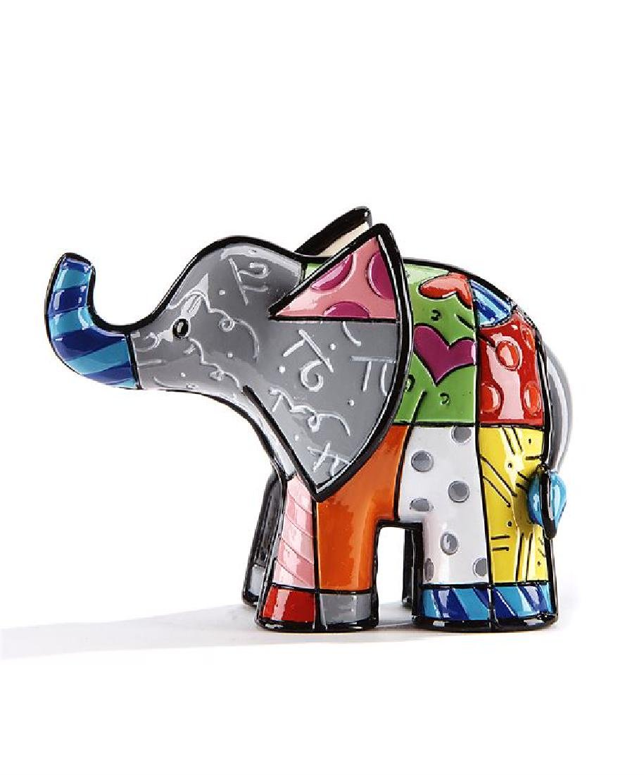 Romero Britto: Little Elephant Grey statue