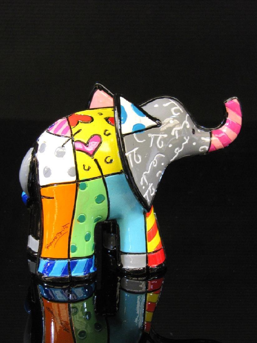 Romero Britto: Little Elephant Grey statue - 2