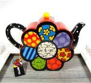 Romero Britto: Teapot Flower