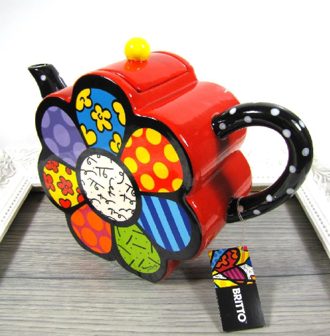 Romero Britto: Teapot Flower - 2