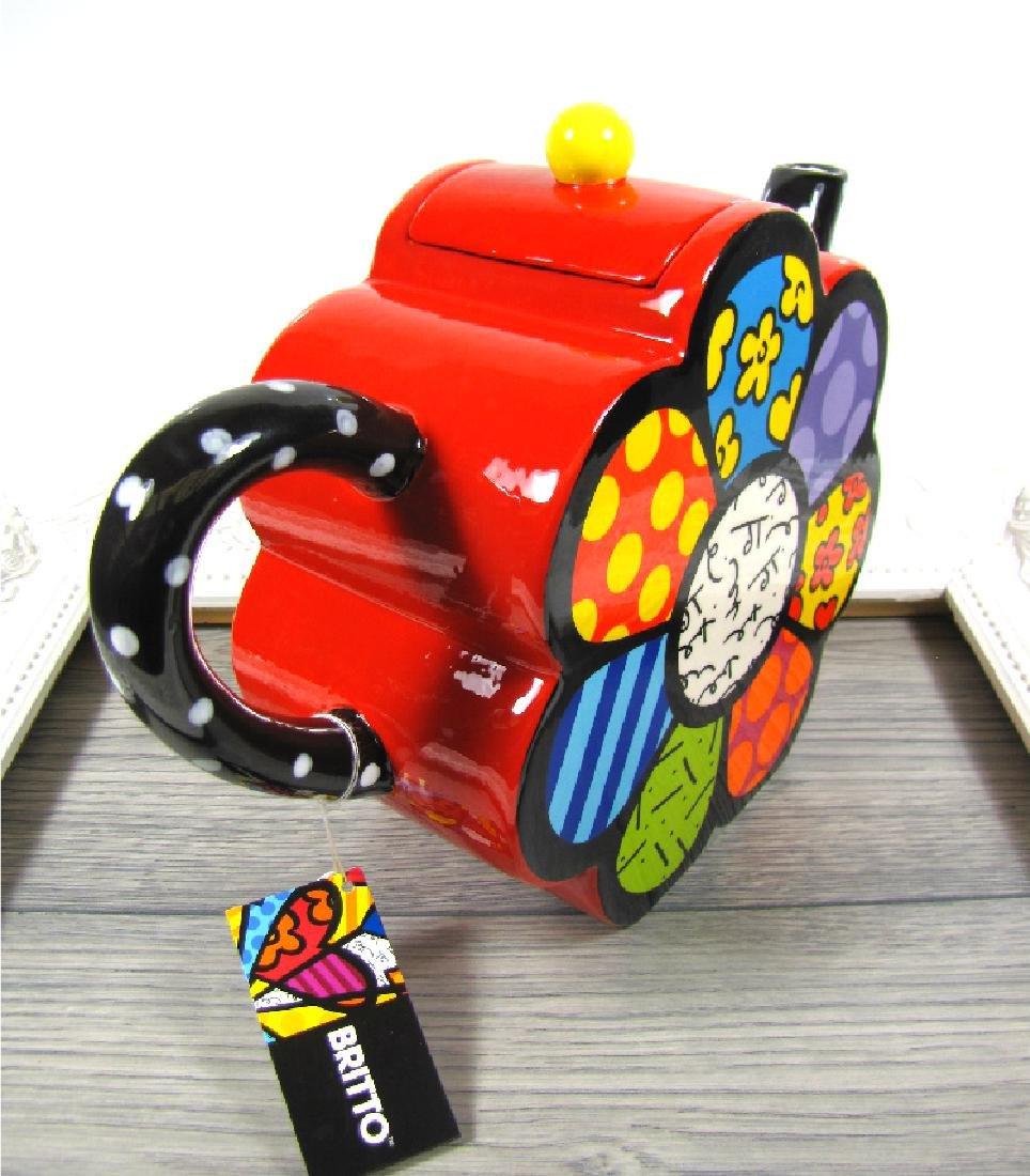 Romero Britto: Teapot Flower - 5