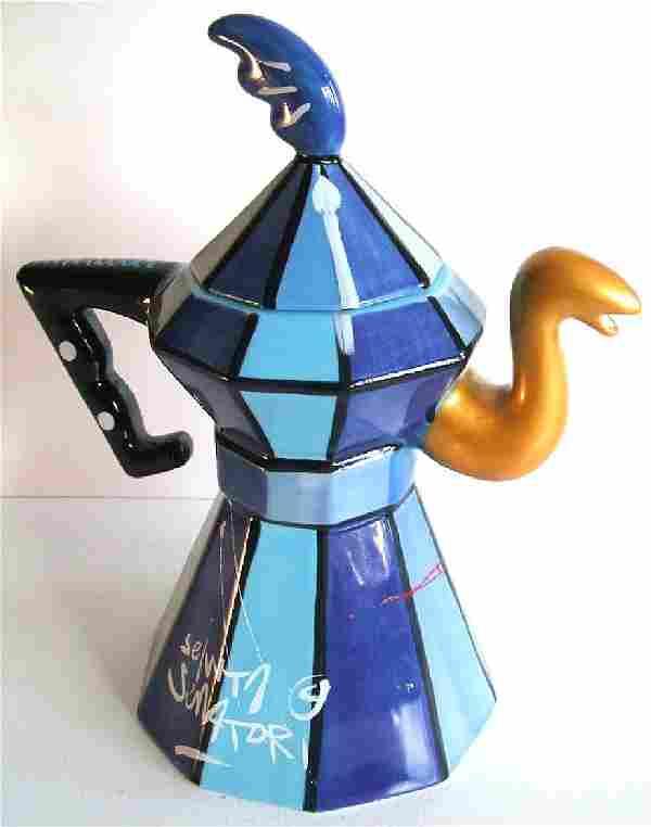 Selwyn Senatori: Coffee Pot Percolatore Blue