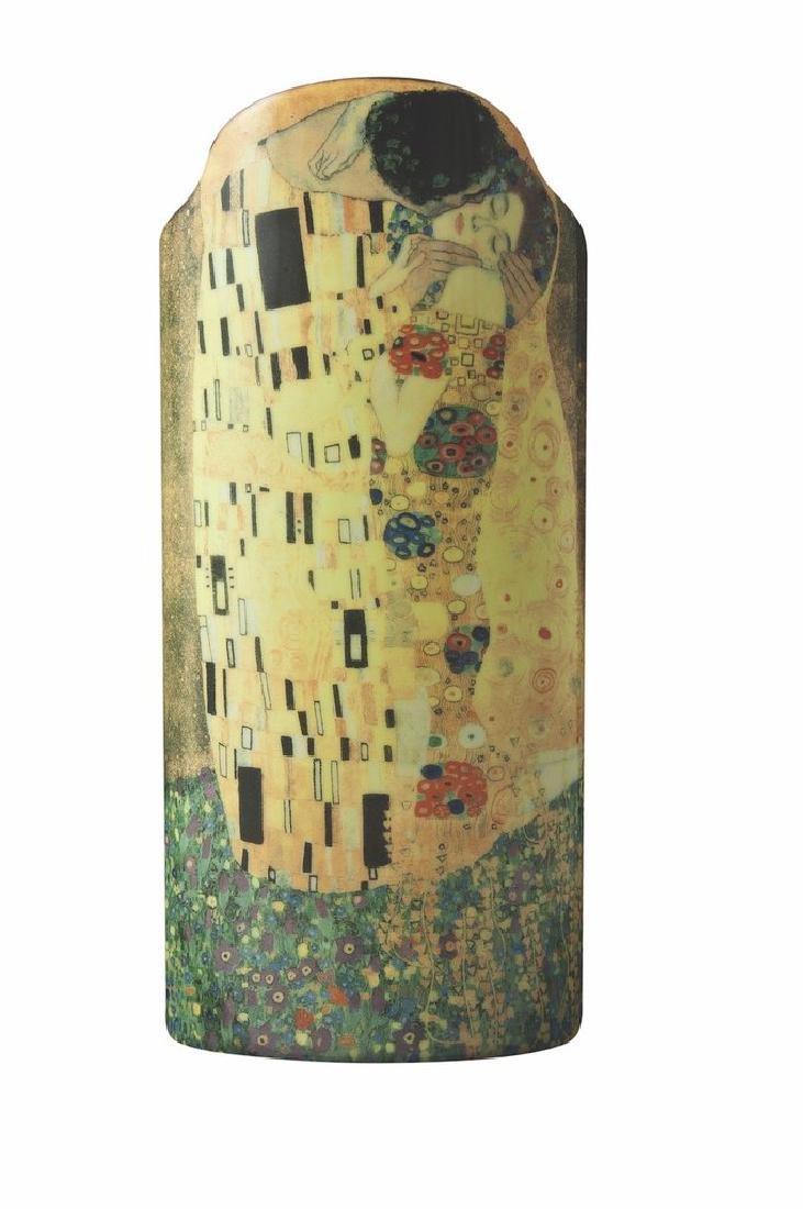After Gustav Klimt: Vase The Kiss