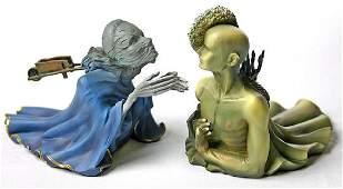 After Salvador Dali Tristan en Isolde statue set