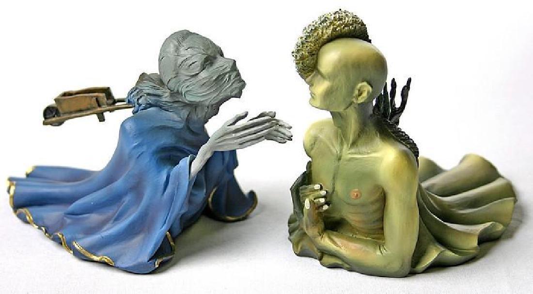 After Salvador Dali: Tristan en Isolde statue set