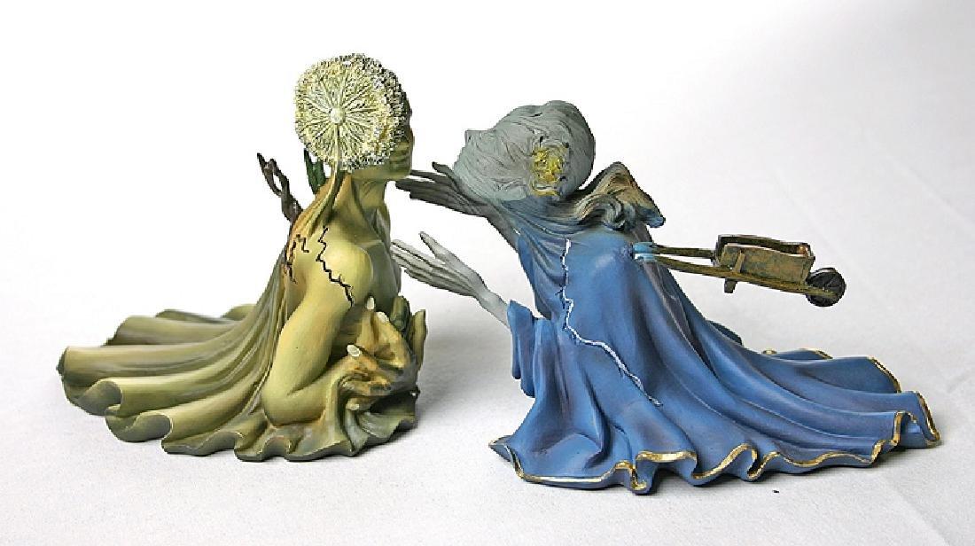 After Salvador Dali: Tristan en Isolde statue set - 2