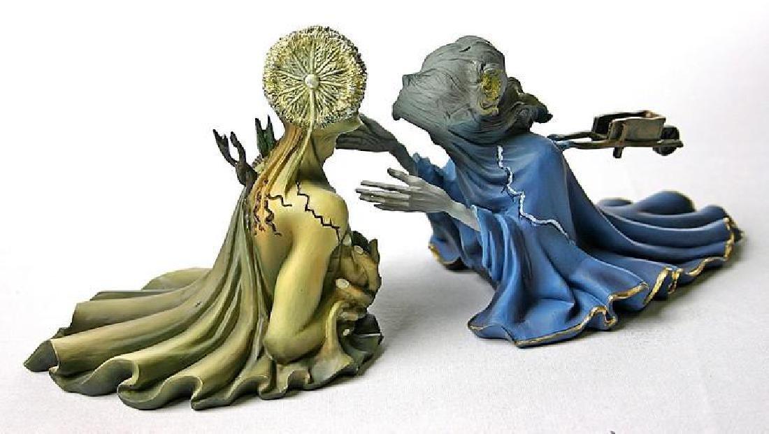 After Salvador Dali: Tristan en Isolde statue set - 3