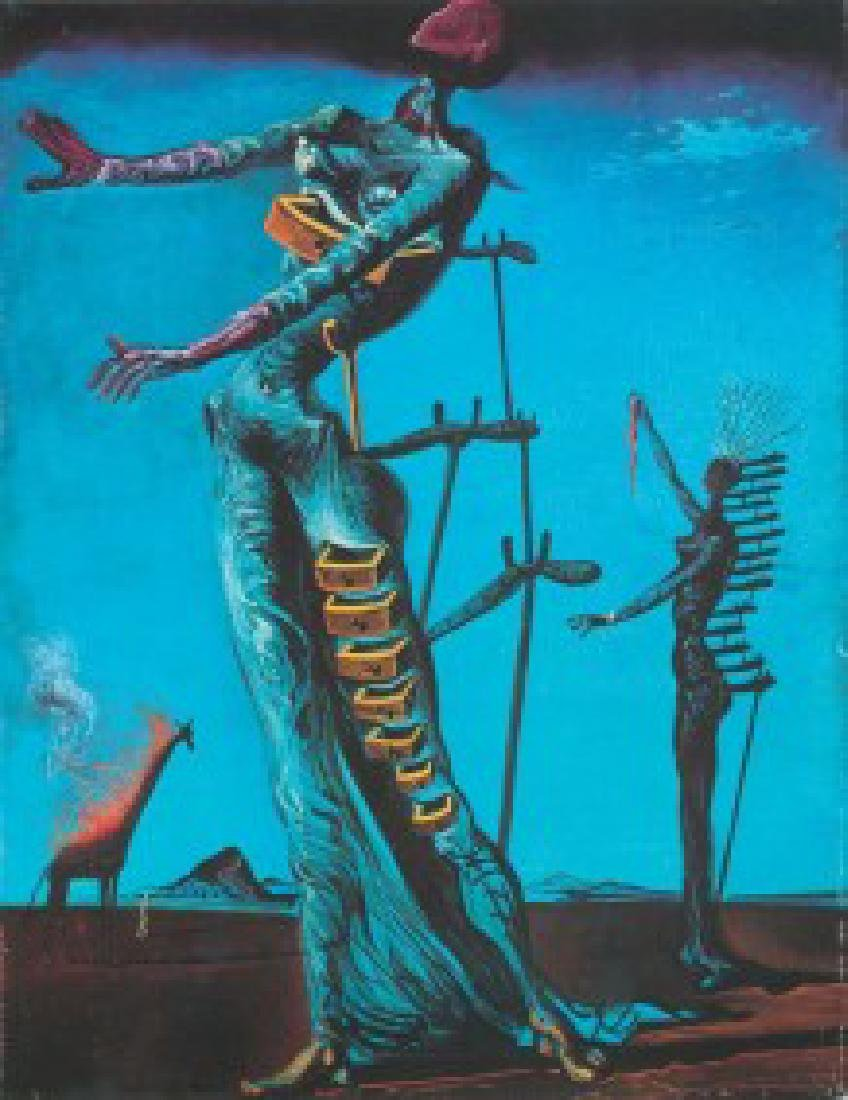 After Salvador Dali: Woman Burning Giraffe statue - 5