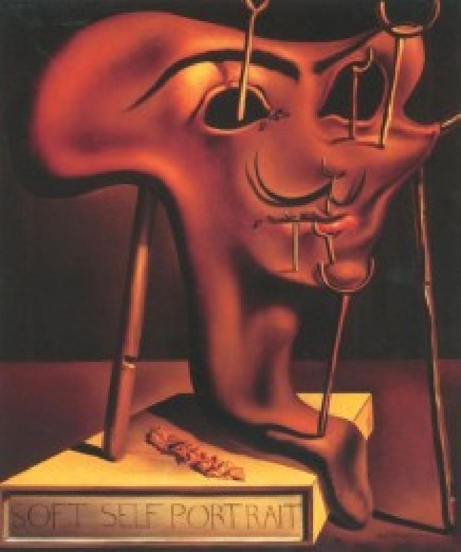 After Salvador Dali: Soft Self Portrait statue - 4