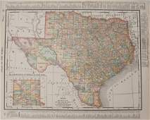 Rand McNally: Antique Map of Texas and Indian Territory
