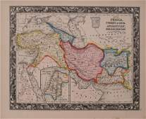 Mitchell: Antique Map of Turkey Persia Afghanistan 1860