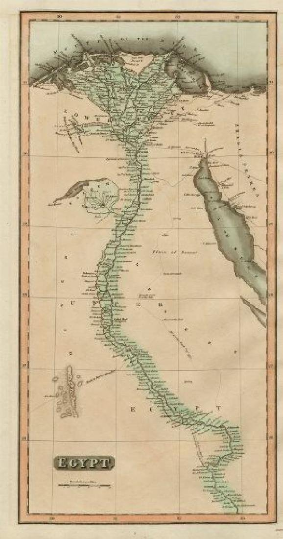 Thomson: Antique Mpa of Egypt. Nile Valley, 1817