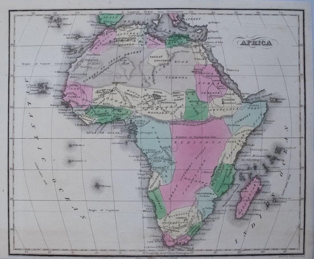 Smith/Burgess: Antique Map of Africa, 1835