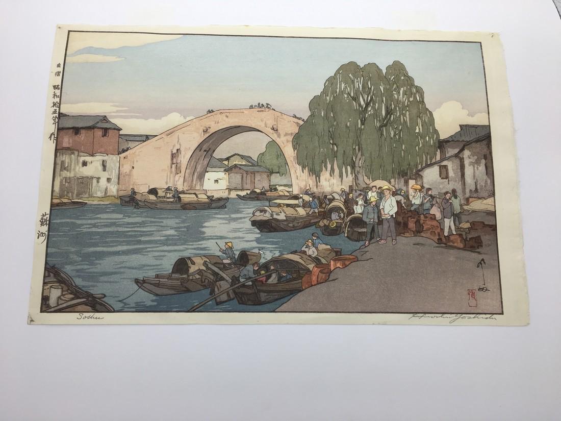 Hiroshi Yoshida Woodblock Suzhou in China