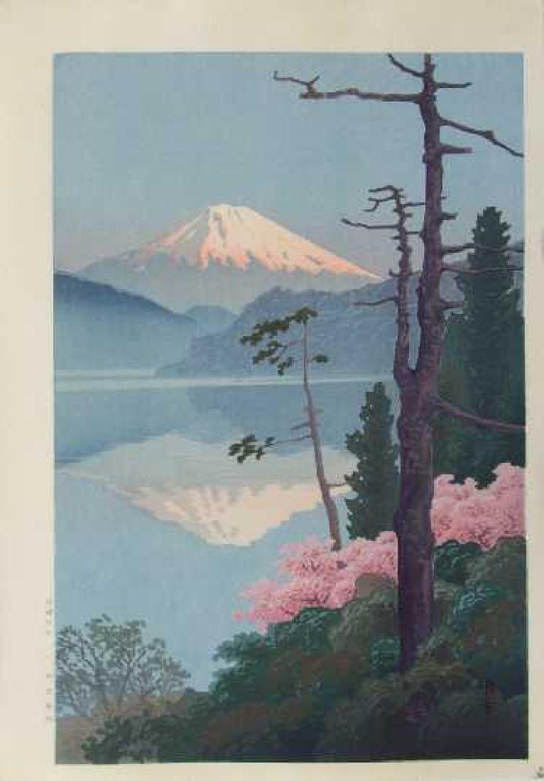 Ito Yuhan Woodblock Fuji from Taganoura