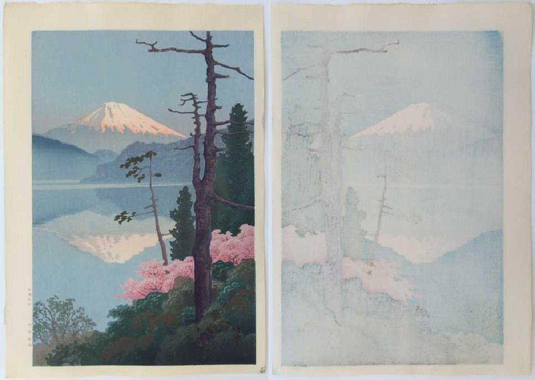 Ito Yuhan Woodblock Fuji from Taganoura - 2