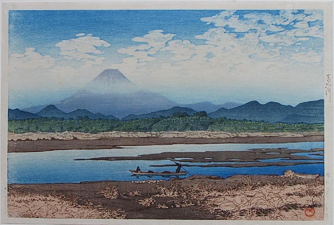 Kawase Hasui First Edition Woodblock Banyû River