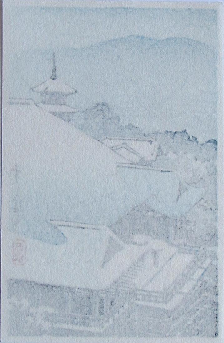 Kawase Hasui Woodblock Bird's Eye View Kiyomizu Temple - 2