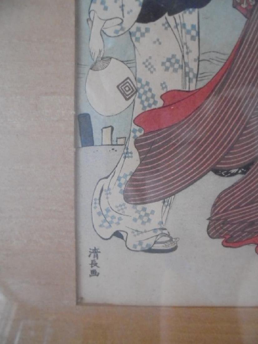 Kiyonaga Woodblock 3 Womean - 2