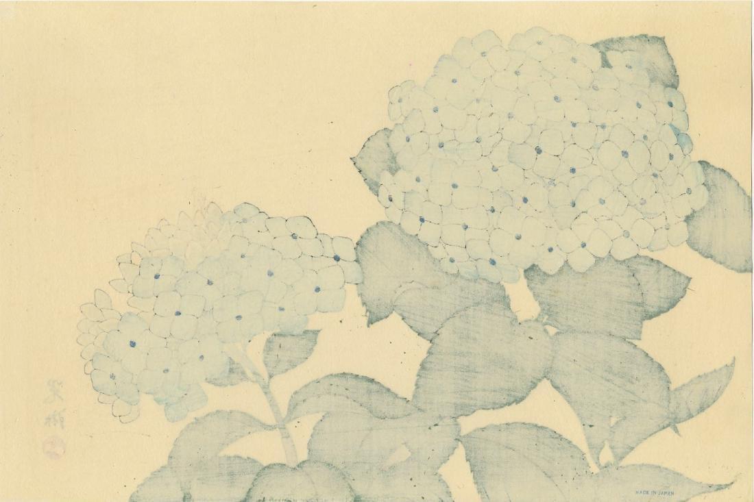 Ogata Korin Woodblock Hydrangea - 2